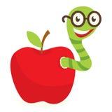 De worm van de appel stock illustratie