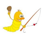 De worm van de visserij Stock Fotografie