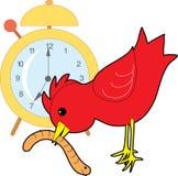 De Worm van de vroege vogel Stock Afbeelding