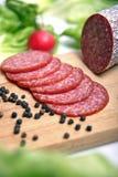 De worst van de salami Stock Afbeelding