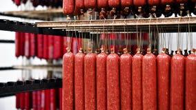 De worst van de vleesfabriek stock footage