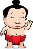 De Worstelaar van Sumo van de baby Royalty-vrije Stock Foto's