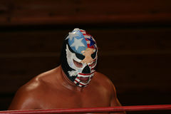 De worstelaar van WWF de Patriot Royalty-vrije Stock Foto's