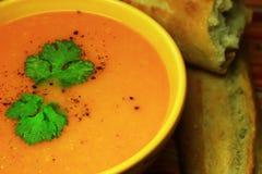 De wortel van de soep Stock Afbeeldingen