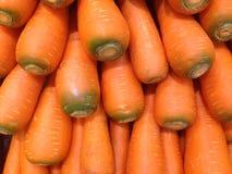 De wortelen worden geoogst en gewassen stock foto