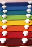 De xylofoon van de regenboog royalty-vrije stock afbeeldingen