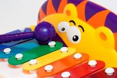 De xylofoon van het kind van het stuk speelgoed Stock Fotografie