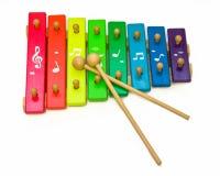 De xylofoon van het stuk speelgoed Royalty-vrije Stock Afbeelding