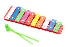 De xylofoonstuk speelgoed van de kleur Stock Afbeeldingen