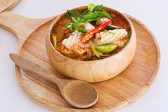 De yam kong soep van Tom op wihte achtergrond Thais voedsel - beweeg gebraden gerecht #6 Stock Afbeeldingen
