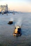 De Yangtze-rivier in Wuhan-stad stock afbeeldingen