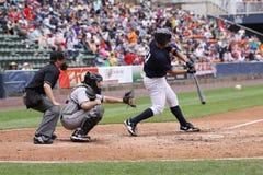 De Yankees van de Staaf van Wilkes van Scranton slaan Jesus Montero stock fotografie