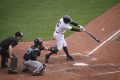 De Yankees van de Staaf van Wilkes van Scranton slaan Kevin Russo stock fotografie