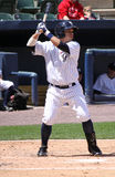 De Yankees van de Staaf van Wilkes van Scranton slaan Luis Nunez stock afbeeldingen