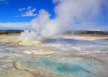 De Yellowstone Hete Lentes in de recente zomer stock afbeelding