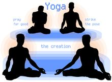 De yoga Asana stelt royalty-vrije stock fotografie