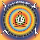 De yoga is goed voor gezondheid en mening Stock Afbeelding