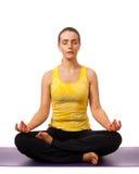 De yoga stelt Stock Afbeeldingen
