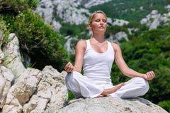 De yoga stelt Royalty-vrije Stock Foto