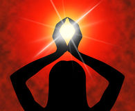 De yoga stelt betekent mediterend Spiritualiteit en Meditatie Royalty-vrije Stock Foto's