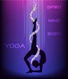 De yoga stelt EKA PADA CHAKRASANA één beenwiel stelt Stock Foto's