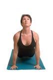 De yoga stelt en oefening Stock Foto's