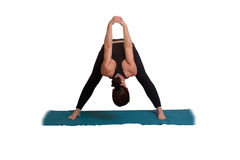 De yoga stelt en oefent uit Royalty-vrije Stock Foto's