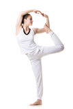 De yoga stelt nataradjasana Royalty-vrije Stock Fotografie