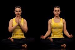 De yoga stelt Reeks Stock Foto's
