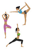 De yoga stelt reeks Stock Foto