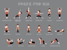 De yoga stelt voor Jong geitje Vectorillustratie royalty-vrije illustratie