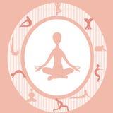 De yoga van de aantrekkingskracht Stock Afbeeldingen