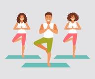 De yoga van de groep royalty-vrije illustratie