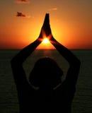 De Yoga van de meditatie stock foto's