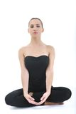 De yoga van de vrouw royalty-vrije stock foto's