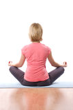 De yoga van de vrouw Royalty-vrije Stock Afbeeldingen