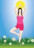 De yoga van de vrouw Vector Illustratie