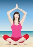 De yoga van de vrouw Royalty-vrije Illustratie