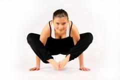 De yoga van de vrouw Stock Afbeeldingen