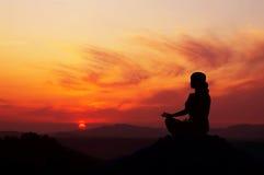 De Yoga van de zonsopgang Royalty-vrije Stock Fotografie