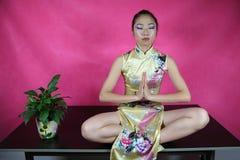 De yoga van het bureau royalty-vrije stock fotografie