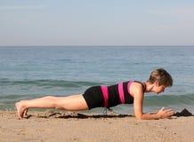 De yoga van het strand Royalty-vrije Stock Fotografie