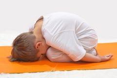 De yoga van kinderen. Royalty-vrije Stock Fotografie