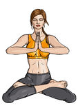 De Yoga van Lotus Royalty-vrije Stock Afbeeldingen