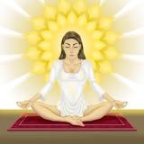 De yoga van vrouwen royalty-vrije illustratie