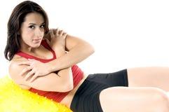 De yoga werkt uit Stock Fotografie