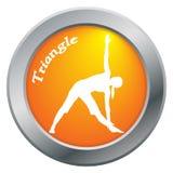 De yogadriehoek stelt Oranje Pictogram Stock Foto