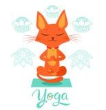 De yogakat stelt Yoga Cat Vector Yoga Cat Meme Yoga Cat Images Yoga Cat Position Royalty-vrije Stock Foto