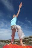 De yogastrijder twee van de macht positie Stock Afbeeldingen