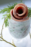 De yoghurtsalade van de ham Stock Foto's